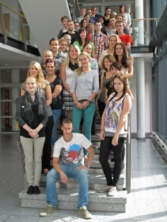 Gruppenfoto der Ausbildungsgruppen am Standort Bad Hersfeld