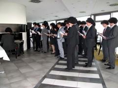 Musikalische Darbietung der Lehrgangsteilnehmerinnen und -teilnehmer