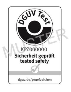 Sample of a DGUV Test mark
