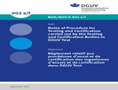 Rules of Procedure for Testing and Certification in DGUV Test