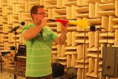 Messung der Lärmbelastung beim Vuvuzelablasen