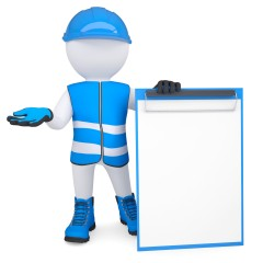 3D-Figur mit Schutzkleidung