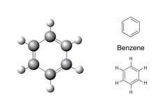 Strukturformel und chemisches Modell