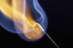 Streichholzflamme
