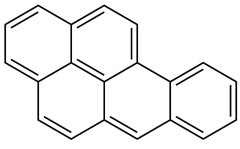 Strukturformel Benzo(a)pyren