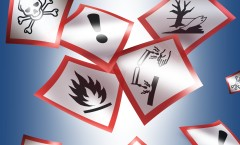 Verschiedene Gefahrstoffsymbole