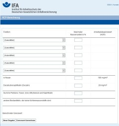 Screenshot der IFA-Software