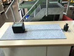 Felt sample on measuring table