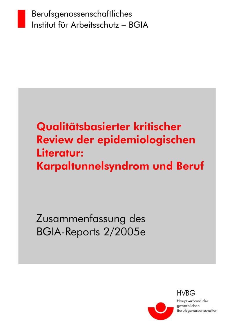 Qualitätsbasierter Kritischer Review Der Epidemiologischen Literatur