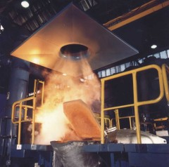 Smelter suctioning
