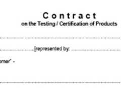 Part of an empty contract form