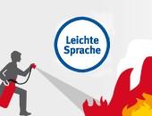 Symbolgrafik Feuerlöschen in Leichter Sprache