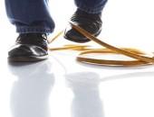 Bild von Füßen, die in einer Schlinge hängen bleiben
