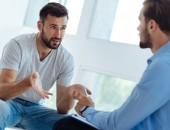 Gespräch zwischen Patient und Psychologe