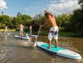 Bild von Standup Paddlern auf einem See