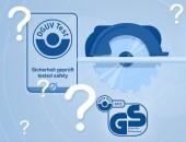 Symbole der Kennzeichnung auf blauem Hintergrund