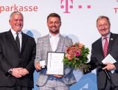 Manfred Wirsch (Vorstandsvorsitzender DGUV), Heinrich Popow und Friedhelm Julius Beucher