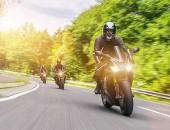 Bild meherer Motorradfahrer