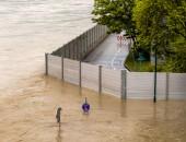 Bild einer überfluteten Straße