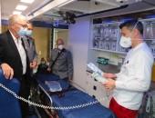 Besichtigung eines Rettungsfahrzeugs in der Notaufnahme des BG Klinikums Unfallkrankenhaus Berlin