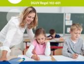 Bild: Titelseite der DGUV Regel 102-601 - Branche Schule
