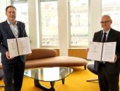 Foto: Karl-Sebastian Schulte, Geschäftsführer ZDH und Dr. Stefan Hussy, Hauptgeschäftsführer DGUV