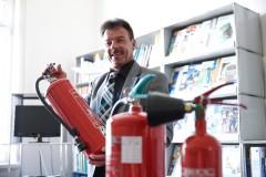 Hinweis auf Feuerlöscher