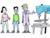 Illustration zum Thema Werstattsicherheit; Illustration: Michael Hüter